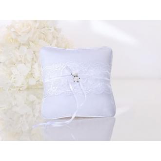 Poduszka pod obrączki, biały, 16 x 16cm