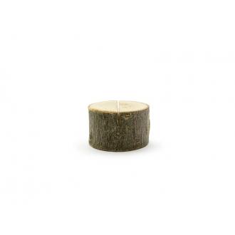 Drewniane podstawki pod wizytówki, śr. 3-4cm (1 op. / 6 szt.)