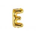 """Balon foliowy Litera """"E"""", 35cm, złoty"""