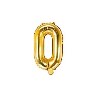 """Balon foliowy Litera """"O"""", 35cm, złoty"""