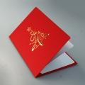 Kartka Świąteczna Złota Choinka FS848c