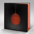 Kartka Świąteczna Pomarańczowa Bombka FS834ag