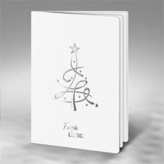 Kartka Świąteczna Srebrna Choinka FS848tb