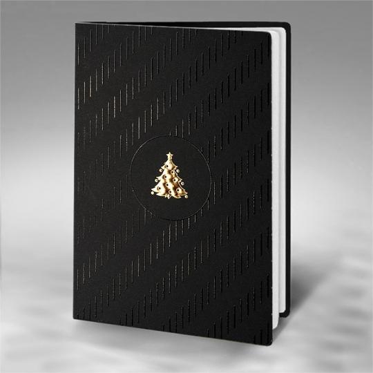Kartka Świąteczna Złota Choinka FS799a