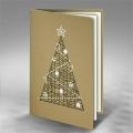 Kartka Świąteczna Ozdobiona Choinka FS773zz