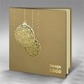 Kartka Świąteczna Złote Bombki FS632