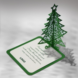 Kartka Świąteczna Zielona Choinka 3D FS427z
