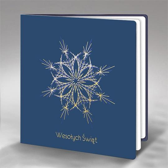 Kartka Świąteczna Śnieżynka FS742ng