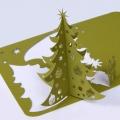 Kartka Świąteczna Oliwkowa Choinka 3D FS469zg