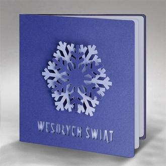 Kartka Świąteczna Trójwymiarowa Śnieżynka FS918nm