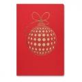 Kartka Świąteczna Bombka w Kropki FS882c