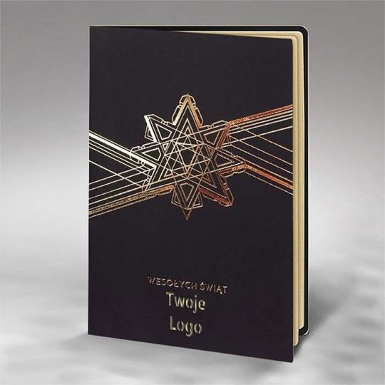 Kartka Świąteczna Geometryczna Gwiazda FS876ag