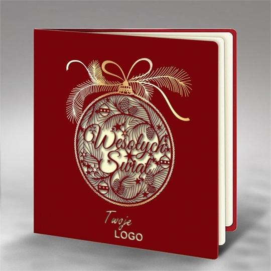 Kartka Świąteczna z Fantazyjnym Wzorem FS746bg