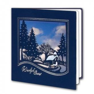 Kartka Świąteczna Zimowy Krajobraz FS858ng