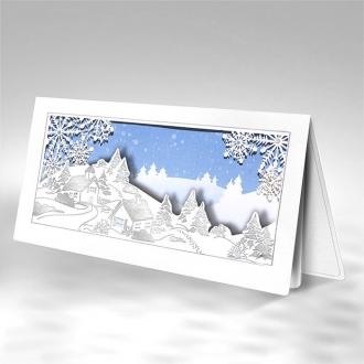 Kartka Świąteczna Zimowy Pejzaż FS731bs