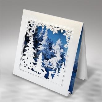 Kartka Świąteczna z Zimowym Motywem FS816tb