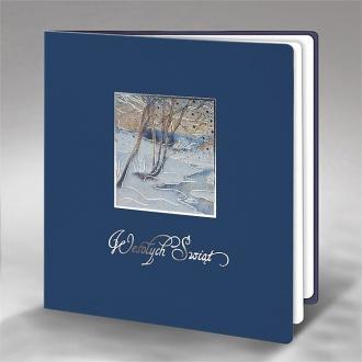 Kartka Świąteczna z Zimowym Pejzażem FS844ng