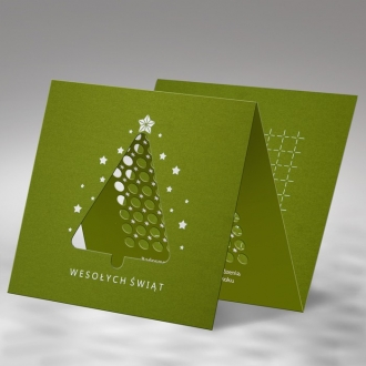 Kartka Świąteczna Trójwymiarowa z Choinką FS784zg
