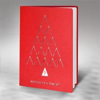 Kartka Świąteczna z Choinką Wyciętą Laserowo FS906c
