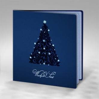 Kartka Świąteczna Choinka z Gwiazdkami FS472ng