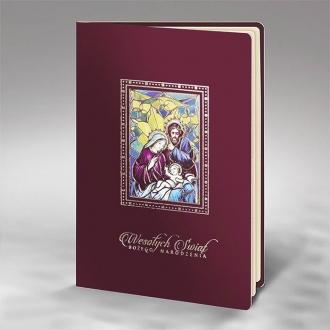 Kartka Świąteczna ze Świętą Rodziną FS916bg