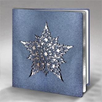 Kartka Świąteczna z Misternym Motywem Śnieżynki FS724gm