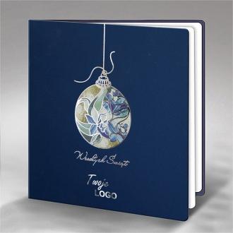 Kartka Świąteczna z Witrażową Bombką FS681ng