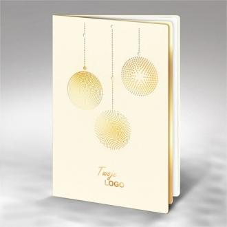Kartka Świąteczna z Trzema Bombkami FS570tz