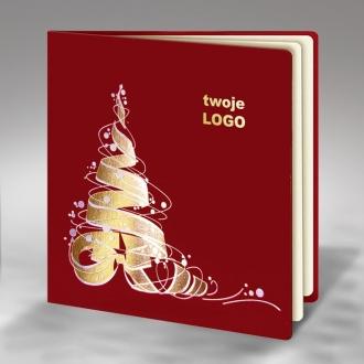 Kartka Świąteczna z Wyzłoconą Choinką FS345bg