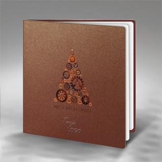 Kartka Świąteczna z Motywem Technicznej Choinki FS674br
