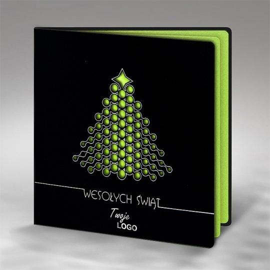 Kartka Świąteczna z Choinką w Nowoczesnej Formie FS553ag