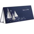 Kartka Świąteczna ze Srebrnymi Choinkami FS222g