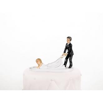 Figurka Na Tort Weselny Leżąca Pani Młoda