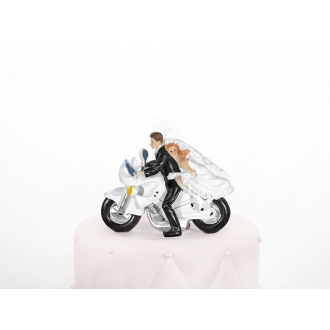 Figurka Para Młoda na motorze, 11,5cm