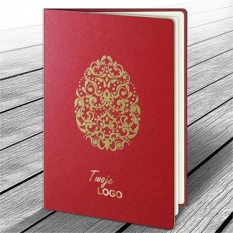 Kartka Świąteczna z Motywem Złotej Pisanki W621