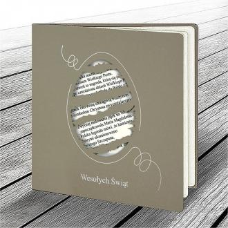 Kartka Świąteczna z Zabawnym Motywem Porwanego Jajka W623