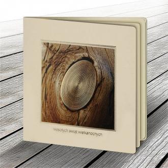 Kartka Świąteczna z Motywem Drewna W626