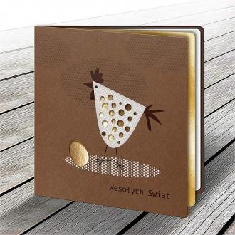 Kartka Świąteczna z Motywem Kury i Jajka W553