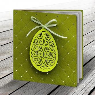 Kartka Świąteczna z Aplikacją Ażurowego Jajka W505