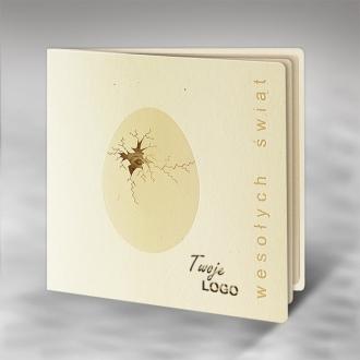 Kartka Świąteczna Eco Design z Motywem Popękanej Skorupki Jajka W411