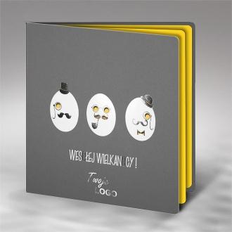 Kartka Świąteczna z Zabawnym Motywem Trzech Jajek W480