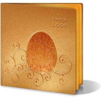 Kartka Świąteczna z Motywem Bogatego Wzoru Wielkanocnego W100