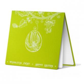Kartka Świąteczna z Motywem Pisanki Wiszącej na Gałązce W251