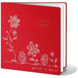 Kartka Świąteczna z Wysrebrzonym Motywem Wielkanocnym W113