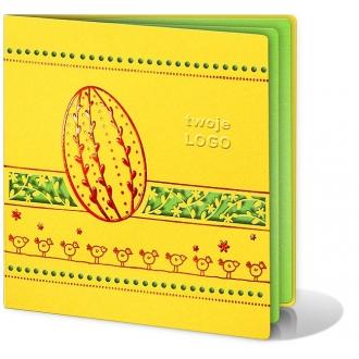 Kartka Świąteczna Ozdobiona Motywami Wielkanocnymi W99