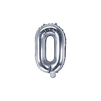 "Balon foliowy Litera ""O"", 35cm, srebrny"