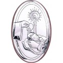 Obrazek Srebrny Pamiątka Chrztu Grawer
