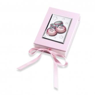 Sztućce Różowe Buciki 11x17x3,5 cm