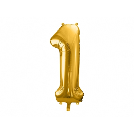 """Balon foliowy Cyfra """"1"""", 86cm, złoty"""
