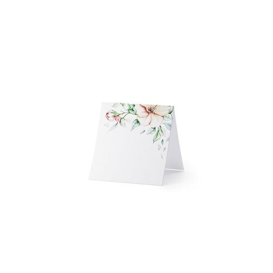 Wizytówki na stół - Kwiaty, 7x7,5cm (1 op. / 25 szt.)